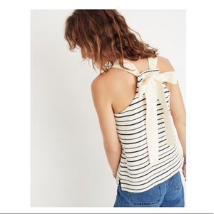 Madewell Texture & Thread Striped Bow-Back Tank